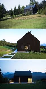 this small house sits on a slope in croatian countryside
