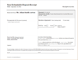 non refundable deposit receipt template receipt templates