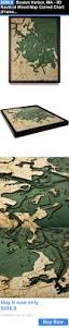 home decor boston harbor ma 3d nautical wood map carved chart