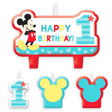 mickey mouse 1st birthday mickey mouse 1st birthday candle set shopdisney
