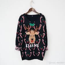 2018 wholesale sweater deer me print