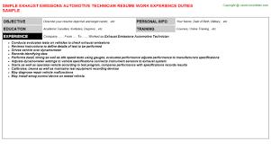 Auto Detailer Resume 4 Automotive Technician Resume Template 2 Auto Detailer Cv Rnei