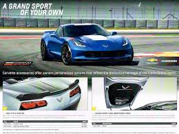 corvette grand sport accessories grand sport gm accessories