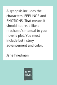 how to write a book synopsis like a pro now novel