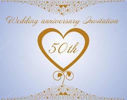 50th wedding anniversary invitation u2014 stock vector ninarubanyuk