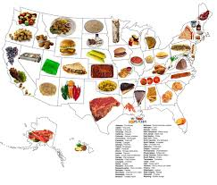 food map of the united states food stuff and things