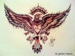 tattoo eagle tumblr eagle with arrow tattoo design