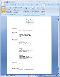 resume template word document sle resume word document resume template