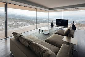 living room balcony beautiful views mountain house in nagano japan
