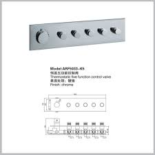 560 120mm square shower faucet connect luxury 5 function