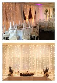 wedding backdrop fairy lights wedding string up lights details