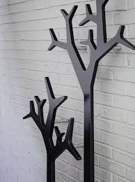 wall mounted coat rack floor contemporary steel tree by