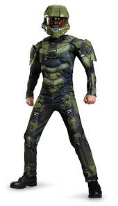 amazon com master chief classic muscle costume small 4 6 toys