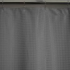 Gray Fabric Shower Curtain Heavy Weight Fabric Shower Curtains Standard 72x72 Waffle Weave