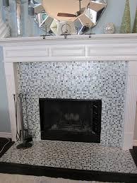 fireplace fireplace glass tile