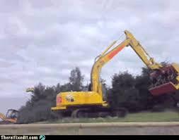 Bulldozer Meme - there i fixed it bulldozer white trash repairs cheezburger