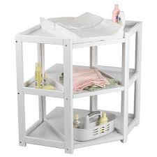 Badger Basket Changing Table White Badger Basket Corner Baby Changing Table White Badger