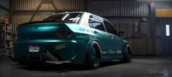 mitsubishi lancer stance need for speed payback build of the week u2013 2007 mitsubishi lancer