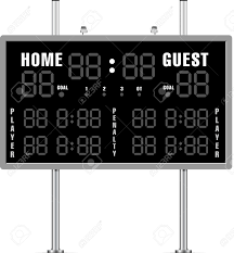 home and guest scoreboard royalty free cliparts vectors and