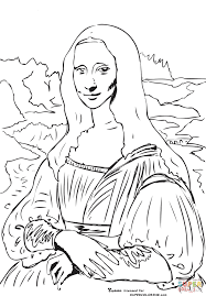 mona lisa coloring page master pieces coloring pages for adults