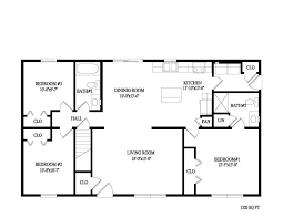 2 bedroom ranch house plans 2 bedroom bath ranch style floor plans memsaheb