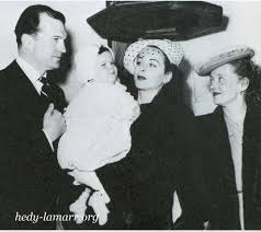 Betty Davis Daughter by Hedy Lamarr And Husband No 3 John Loder At The Christening Of