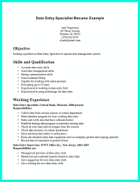resume for data entry specialist todayboard