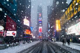 winter juno times square new york city photography