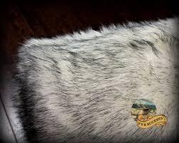 Faux Fur Throw Grey Amazon Com Fur Accents Russian Wolf Throw Blanket Black Tip Faux