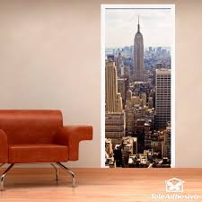 door view of the empire state wall stickers door view of the empire state