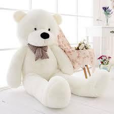 big teddy new 47 big white teddy plush stuffed soft toys doll