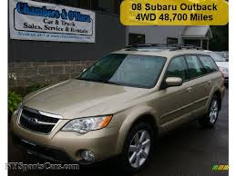 subaru gold 2008 subaru outback 2 5i limited wagon in harvest gold metallic