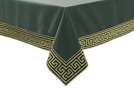 forest green table linens athena our best selling luxury composite fabric consists of a patterned