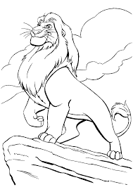 lion king coloring pages free printable download drawing