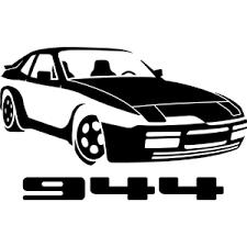 porsche 944 logo in the garage custom vinyl decals for race cars