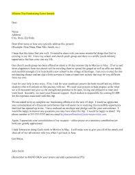 mission trip support letter world of letter u0026 format