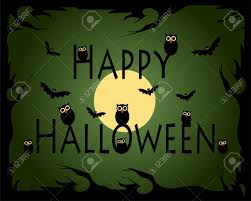 halloween party banner poster or background with scary owls