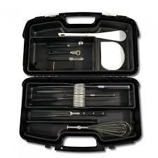 mallette de cuisine mallette stage cuisine 11 pièces couteaux et ustensiles de cuisine
