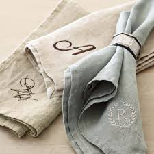 italian washed linen napkins set of 4 williams sonoma