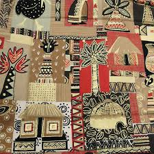 brown bold african print table runner childrens aids