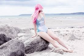 shiny swimsuit shiny metallic mermaid swimsuit hadlington