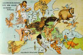 1914 World Map by German Comic War Map 1914 3137 2117 Mapporn