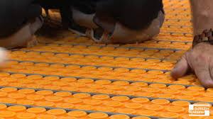 heating mat under tile floor flooring ideas