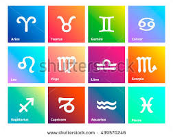 cancer colors zodiac horoscope signs symbols white sign bright stock vector 149948669