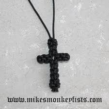 colored cross necklace images Paracord cross necklace solid colors handmade in the usa gif