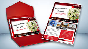 Wedding Gift Card Red Letter Days Wedding Gift Card 100 Red Letter Days