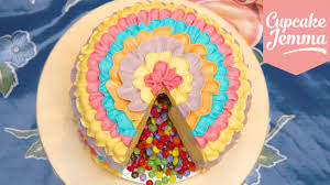 how to make a piñata cake cupcake jemma youtube