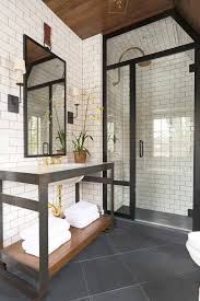 Black And Yellow Bathroom Ideas The 25 Best Subway Tile Bathrooms Ideas On Pinterest Tiled