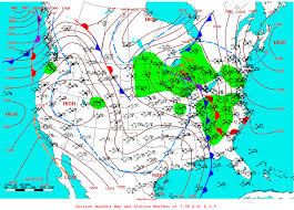 Mexico Weather Map by Lake Erie Displacement December 24 2007
