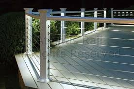 metal deck railing wood aluminum galvanized iron and stainless